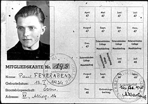 Feyerabend's ID card